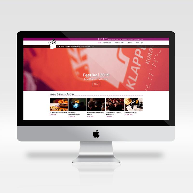 Relaunch der Filmfestival-Webseite Klappe auf!